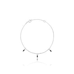 周大福MONOLOGUE獨白 MIX系列 獨特小巧9k黑鉆手鏈
