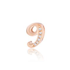 周大福MONOLOGUE独白 MIX系列 玫瑰金钻石吊坠数字9