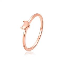 周大福MONOLOGUE独白 18K玫瑰金小恶魔可爱心型恶魔角戒指