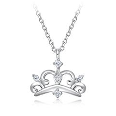 周大福大气皇冠形铂(Pt)950镶钻石项链