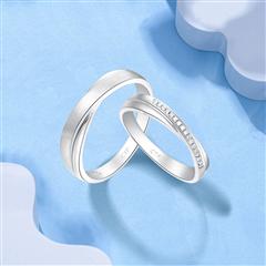周大福钻石铂金戒指