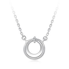 周大福 PT G&W系列 PT950铂金钻石项链
