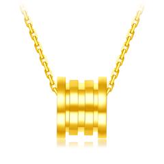 周大福 17916 宸系列 小蛮腰22K金钻石项链吊坠