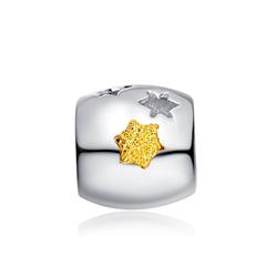 金色许愿福星Pt950黄铂金吊坠