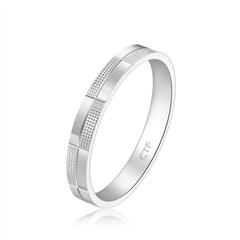 周大福时尚格纹铂(Pt)950花戒指
