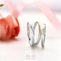 【刻字】周大福情约系列Pt950铂金戒指