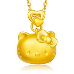 澳门凯旋门官网HELLO KITTY系列凯蒂猫足金黄金吊坠