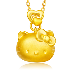 Hello Kitty凯蒂猫黄金足金吊坠