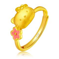 Hello Kitty 凯蒂猫黄金足金戒指