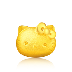 Hello Kitty 凯蒂猫黄金足金耳钉(单只)
