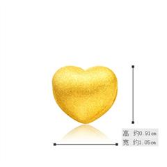 爱心转运珠黄金足金吊坠