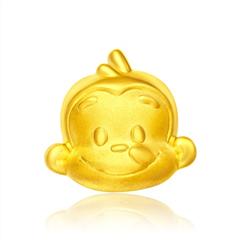 周大福猴年生肖系列猴猴美足金黄金吊坠