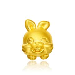 【電商專款】周大福 十二生肖 兔足金黃金吊墜
