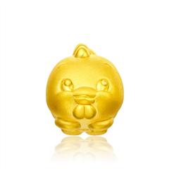 十二生肖系列鸡黄金足金吊坠
