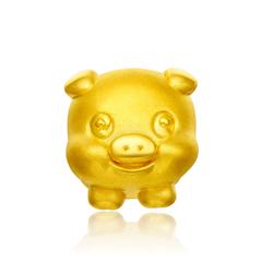 【网店尊享款】周大福 十二生肖 猪足金黄金吊坠