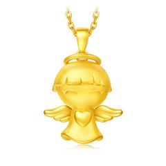 周大福 福星宝宝 财富天使足金黄金吊坠