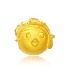 生肖鸡一飞行鸡足金黄金转运珠吊坠
