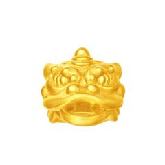 周大福 喜狮系列 吉祥喜狮转运珠男士足金黄金吊坠
