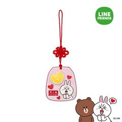 周大福LINE FRIENDS系列可妮兔布朗熊足金黄金金币