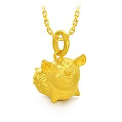 周大福 韩美林系列 猪年生肖仰天笑金猪转运珠