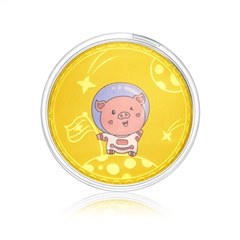 【电商专款】周大福 萌猪ATM 定价足金黄金金币/金章 一步登天猪