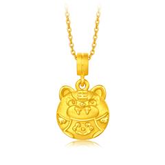 【电商专款】周大福 智能珠宝 黄金镶白贝 生肖吊坠转运珠-虎