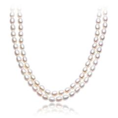 华丽银925镶珍珠项链