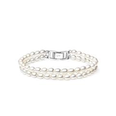 周大福华丽银925珍珠手链