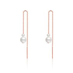 时尚淡水珍珠18K金镶珍珠耳线