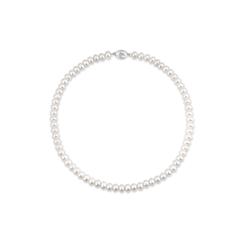 周大福优雅银925珍珠项链