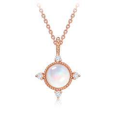 【电商专款】周大福优雅华丽18K金镶珍珠项链