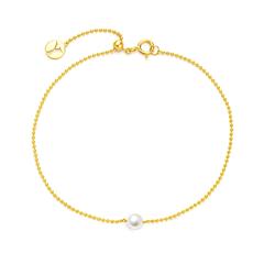 【电商专款】周大福 Y时代系列 18K金镶珍珠手链