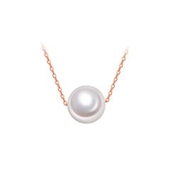 周大福 简约单颗珍珠项链