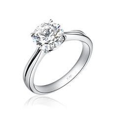 【联系客服订购】时尚华丽2克拉钻石戒指