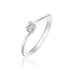 周大福爪18K金钻石戒指