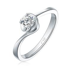 【預售】【刻字】周大福白色18K金鉆石戒指(將于4月30日前發貨)