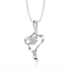 时尚造型Pt950铂金镶钻石吊坠
