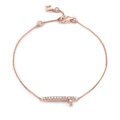 周大福 小心意系列 时尚18K金钻石手链