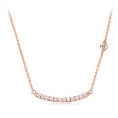 周大福 小心意系列 -Y时代18K金钻石项链