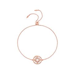周大福Tri-Light时尚玫瑰色18K金镶钻石手链