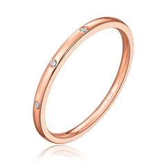 【刻字】周大福小心意系列Y时代系列玫瑰色18K金钻石戒指
