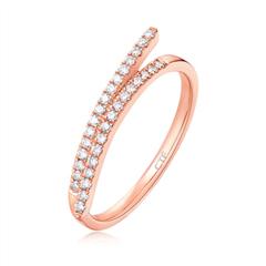 周大福 小心意系列 简约时尚18K金钻石戒指