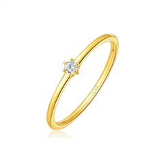 【刻字】周大福赵丽颖《乘风破浪》阿正同款黄色18K金钻石戒指