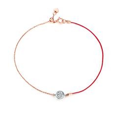 周大福 小心意系列 红绳款-懂你18K金钻石手链