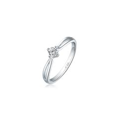 【电商专款】【刻字】周大福时尚18K金钻石戒指(女戒)