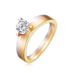 周大福 偏爱系列 可爱18k金钻石戒指