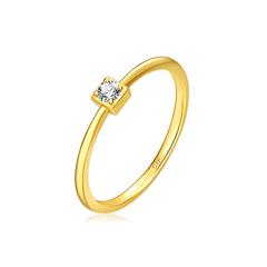【电商专款】【刻字】周大福Y时代 轻盈小巧18K金钻石戒指