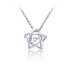 【电商专款】周大福 星星挚爱 18K金镶钻石吊坠