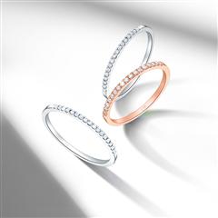 【电商专款】周大福 RINGISM 排钻18K金镶钻石戒指