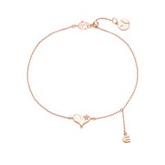 周大福 Y时代小心意系列 心有所鼠简约款18K金钻石手链